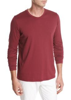 Loro Piana Long-Sleeve Cotton Crewneck T-Shirt