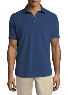 Loro Piana 3-Button Cotton Polo Shirt
