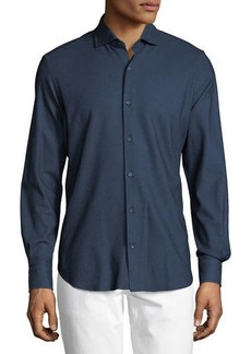 Loro Piana Andrew Cotton Pique Sport Shirt