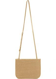 Loro Piana Beige & Gold Straw My Way Bag