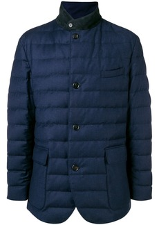 Loro Piana button padded jacket - Blue