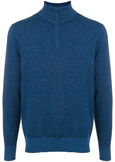 Loro Piana cashmere high neck sweater - Blue