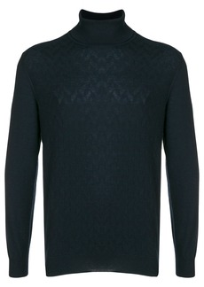 Loro Piana cashmere textured turtleneck sweater - Blue