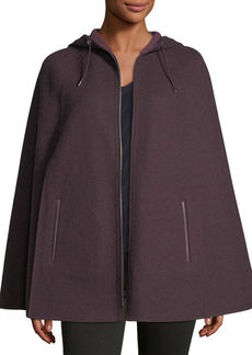 Loro Piana Central Park Zip-Front Hooded Cape