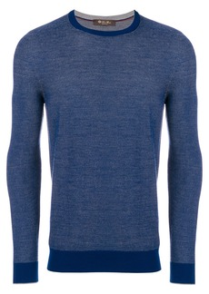 Loro Piana crew neck jumper - Blue