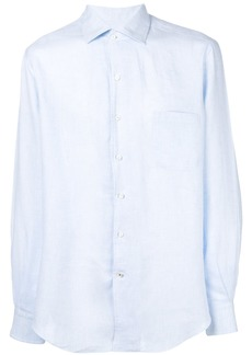 Loro Piana curved hem shirt - Blue