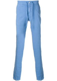 Loro Piana drawstring mid-rise trousers - Blue