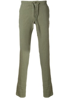 Loro Piana drawstring mid-rise trousers - Green