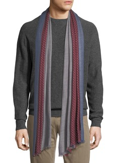 Loro Piana Duo Cavalry Tri-Color Cashmere Scarf