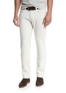 Loro Piana Five-Pocket Slim-Fit Pants