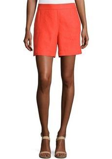 Loro Piana Harry Antigua Linen Bermuda Shorts