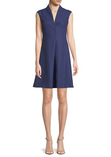 Loro Piana Hollie Cap-Sleeve Linen Dress