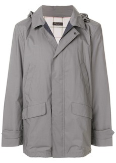 Loro Piana hooded military style jacket - Grey