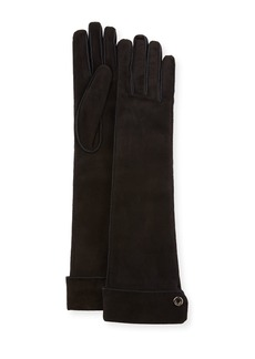 Loro Piana Jacqueline Theatre Suede Gloves