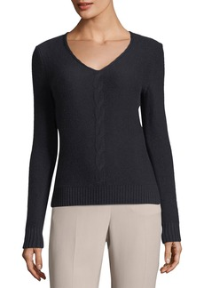Loro Piana Kimberley Cashmere V-Neck Cable-Knit Sweater