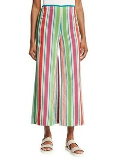 Loro Piana Layton Striped Wide-Leg Pants