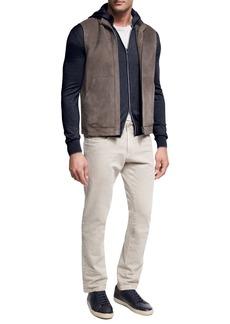 Loro Piana Lightweight Suede & Shearling Fur Vest