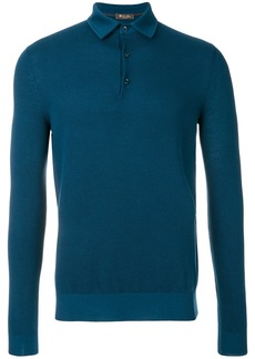 Loro Piana longsleeved polo jumper - Blue