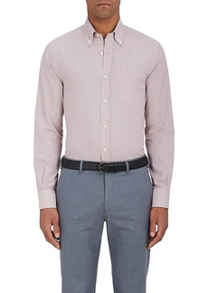 Loro Piana Men's Alfred Checked Cotton Shirt