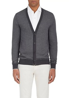 Loro Piana Men's Cashmere-Blend V-Neck Cardigan
