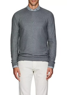 Loro Piana Men's Cashmere-Silk Crewneck Sweater