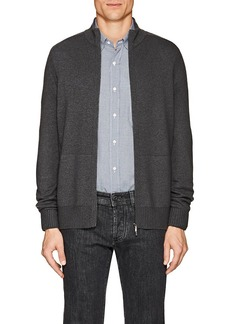 Loro Piana Men's Cashmere-Silk Zip-Front Sweater
