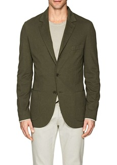 Loro Piana Men's Cotton-Blend Piqué Three-Button Sportcoat