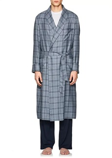 Loro Piana Men's Julien Plaid Cashmere Robe
