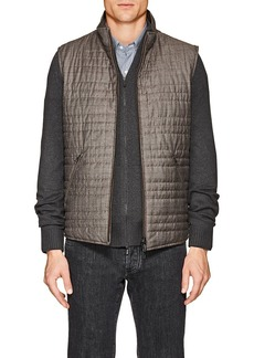 Loro Piana Men's Marlin Wool-Silk Reversible Vest