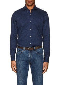 Loro Piana Men's Mélange Cotton Shirt