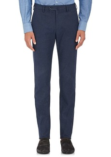 Loro Piana Men's Pantaflat Stretch-Cotton Flat-Front Trousers