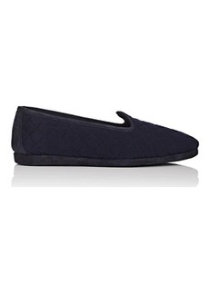 Loro Piana Men's Pantofola Classica Quilted Wool Slippers