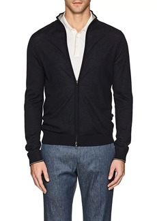 Loro Piana Men's Reversible Cashmere Bomber Sweater