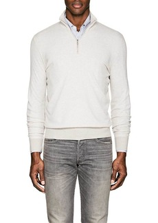 Loro Piana Men's Roadster Striped Cashmere Mock-Turtleneck Sweater