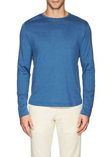 Loro Piana Men's Silk-Cotton Long-Sleeve T-Shirt