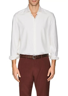 Loro Piana Men's Silk Slim Shirt