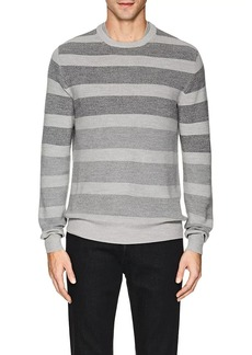 Loro Piana Men's Striped Rib-Knit Wool-Blend Sweater