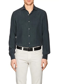 Loro Piana Men's Sueded Silk Shirt