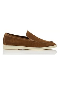 Loro Piana Men's Summer Walk Suede Loafers