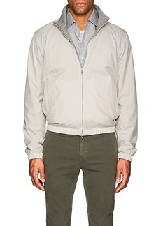 Loro Piana Men's Windmate® Reversible Nylon & Cashmere Bomber Jacket