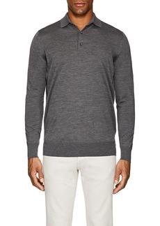 Loro Piana Men's Wish Virgin Wool Long-Sleeve Polo Shirt