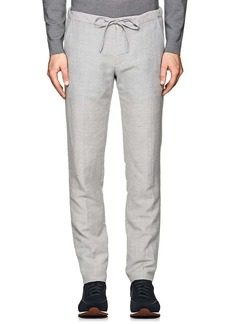 Loro Piana Men's Wool-Linen Drawstring Trousers