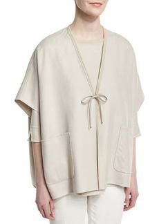 Loro Piana Miley Cashmere-Silk Double Rain System® Cape