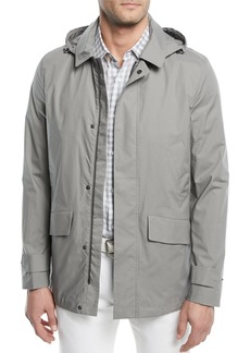 Loro Piana Montville Storm Jacket with Removable Hood