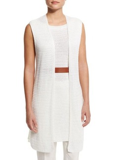 Loro Piana Open-Front Long Vest