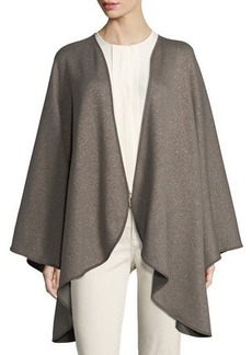 Loro Piana Regina Leather-Trim Cashmere-Blend Cape