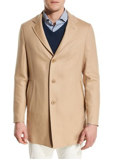 Loro Piana Short Cashmere Three-Button Coat
