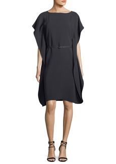 Loro Piana Side-Drape Matte Silk Side-Drape Silk Dress