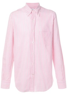 Loro Piana striped button-down shirt - Pink & Purple