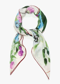 Loro Piana The Hellebores and the Snow Cashmere-Blend Maxi Scarf